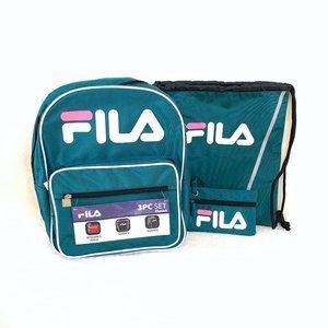 Fila 3 Piece Teal Backpack Set